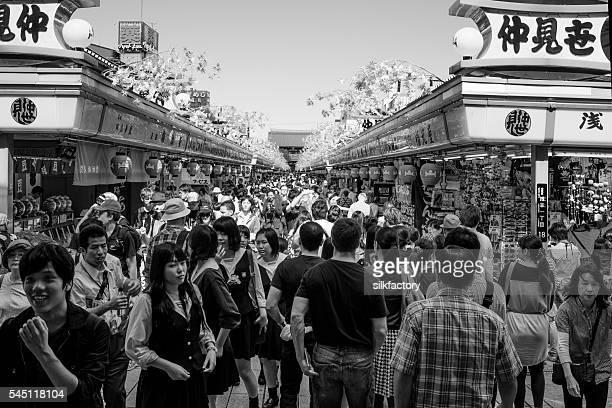 Market in Tokyo near the the Sensoji Temple