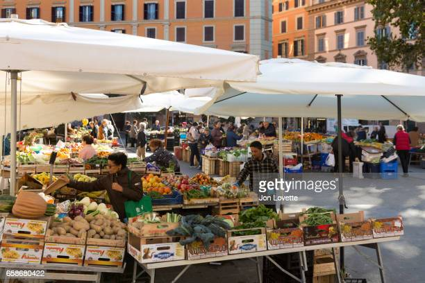 Market in Trastevere Neighborhood
