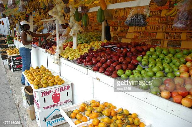 market in trinidad - port of spain stock photos and pictures