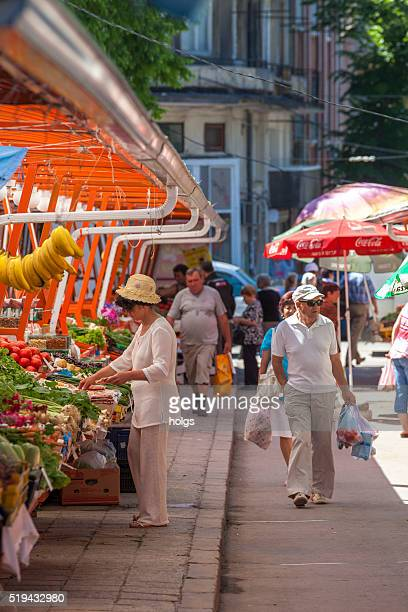 Market in Varna, Bulgaria