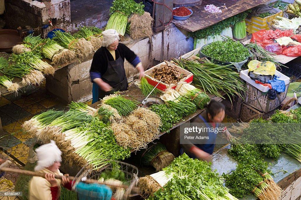 Market, Kaili, Ch : Stock Photo