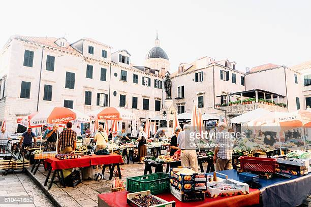 Market on the streets of Dubrovnik
