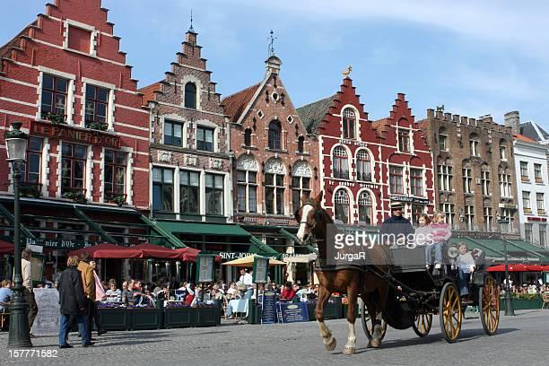 Market Place, Bruges, Belgique