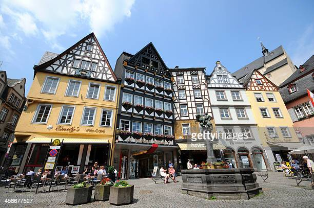 market place Cochem in mosel valley with typical Half-Timbered (Germany)