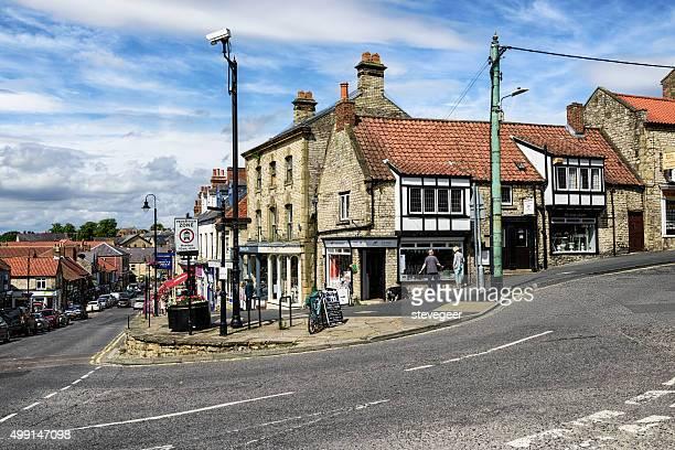 mercado em pickering, north yorkshire - norte de yorkshire - fotografias e filmes do acervo
