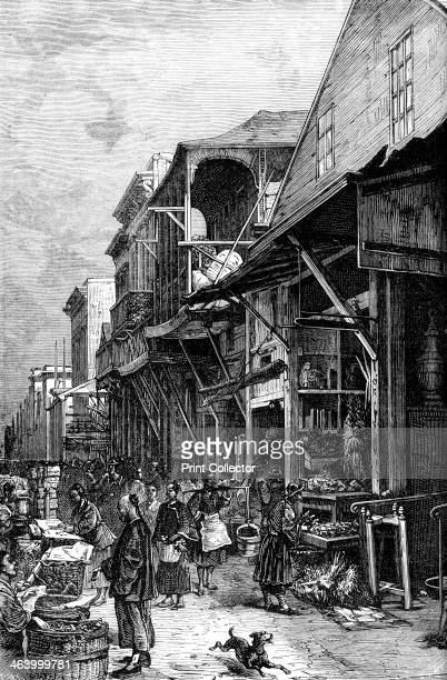 A market place in San Francisco California USA mid 19th century The discovery of gold in 1848 and the ensuing California gold rush caused San...