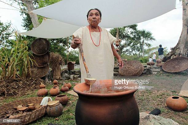 A market prehispanic dances and offerings to the goddess Ixchel were the first events of the Sacred Mayan Journey a tradition restored some years ago...