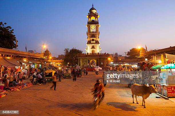 A market scene in Jodhpur city in Rajasthan India December 04 2013 This city was founded in 1459 People continue to paint their houses blue as they...