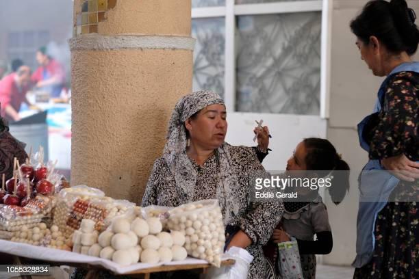 Market scene in Tashkent, Uzbekistan