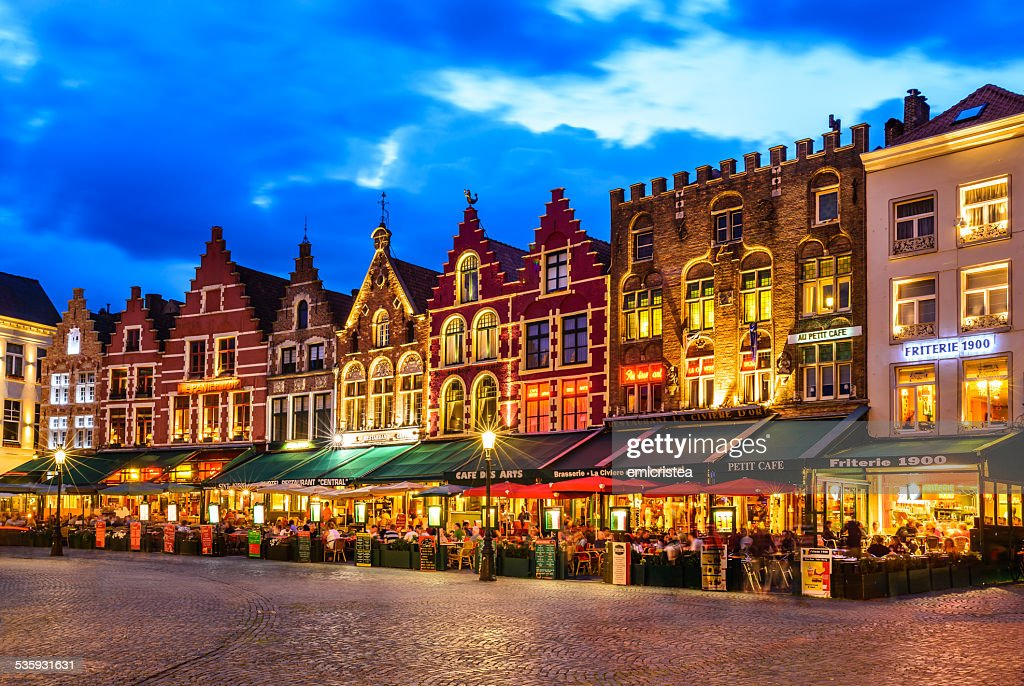 Market Square, Bruges : Stock Photo