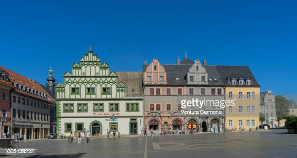 market square in weimar - germany - marktplatz stock-fotos und bilder