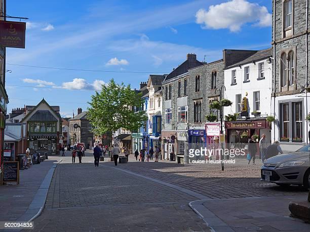 market square, keswick, lake district - keswick stock pictures, royalty-free photos & images