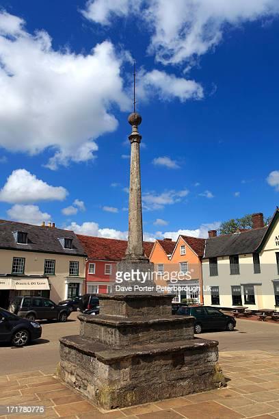 market square, lavenham village, suffolk - lavenham stock photos and pictures