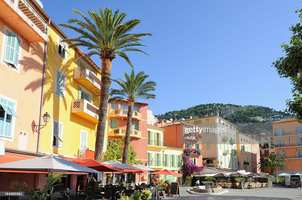 Market square on French Riviera : Stock Photo