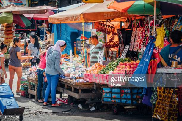 Market stall at Baclaran Street Market in Manila, Philippines