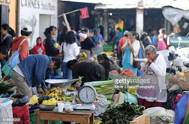 Market Stall at Busy Market, Antigua, Guatemala