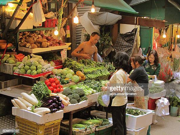 Market stall in Hong Kong