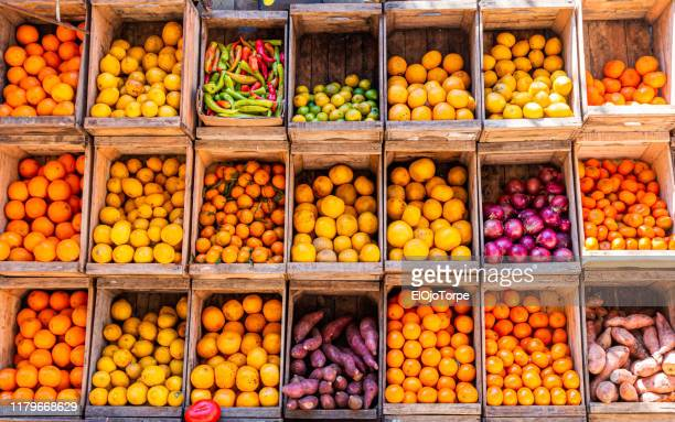 market stall in montevideo, uruguay - crate stock pictures, royalty-free photos & images
