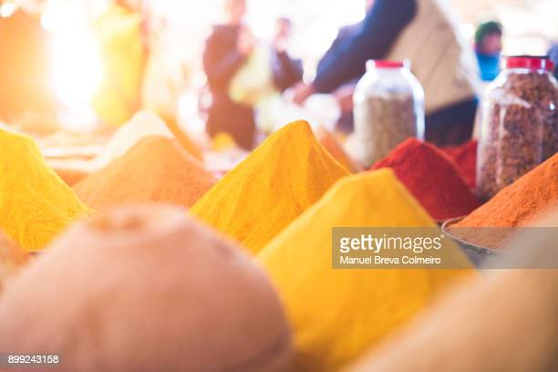 market stall in morocco - moroccan culture stock photos and pictures