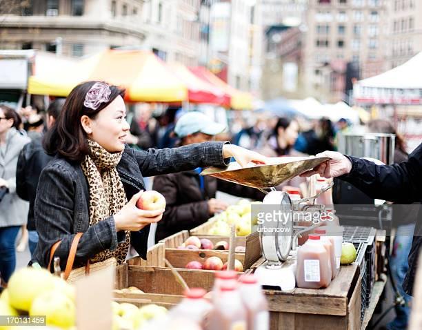 Market stall, New York City
