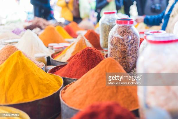 market stall - moroccan culture stock photos and pictures