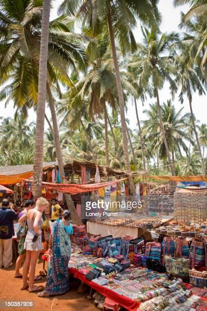Market stalls, Anjuna Market.