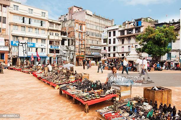 Market stalls in a street market, Hanuman Dhoka, Durbar Square, Kathmandu, Nepal.