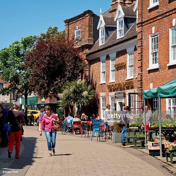 Market stalls in Beccles, Suffolk