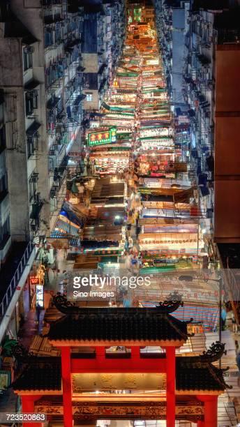 Market stalls in Temple Street at night, Hong Kong, China