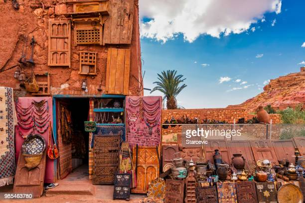 market stand in morocco - djemma el fna square stock photos and pictures