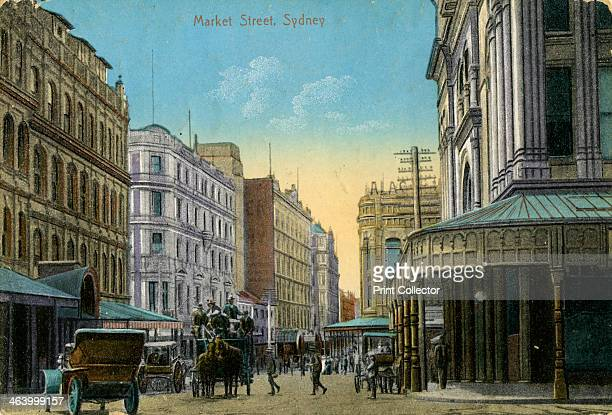 Market Street Sydney New South Wales Australia c1900c1919 Postcard
