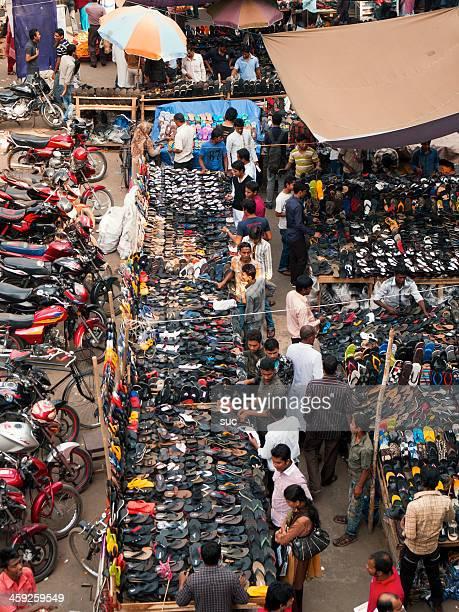 Mercado calles de Bangladesh