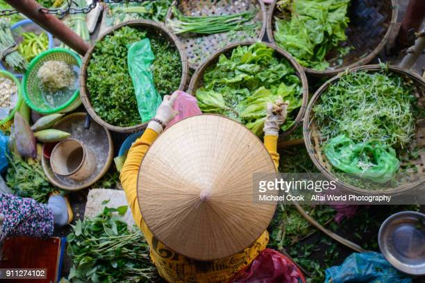 market vendor - hoi an stock pictures, royalty-free photos & images