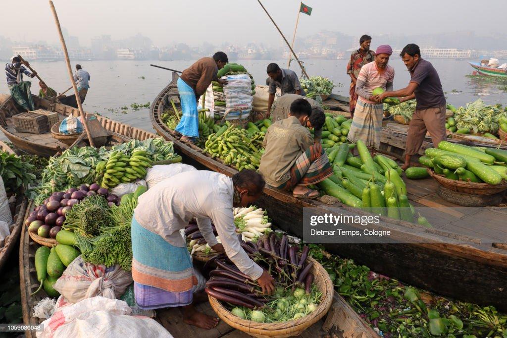 Market vendors, Bangladesh : Stock-Foto