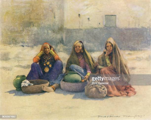'Market Women of Ajmere' 1905 From India by Mortimer Menpes Text by Flora A Steel [Adam Charles Black London 1905] Artist Mortimer Luddington Menpes