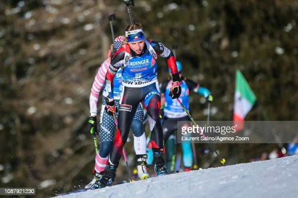 Marketa Davidova of Czech Republic takes 1st place during the IBU Biathlon World Cup Women's Sprint on January 24 2019 in Antholz Anterselva Italy