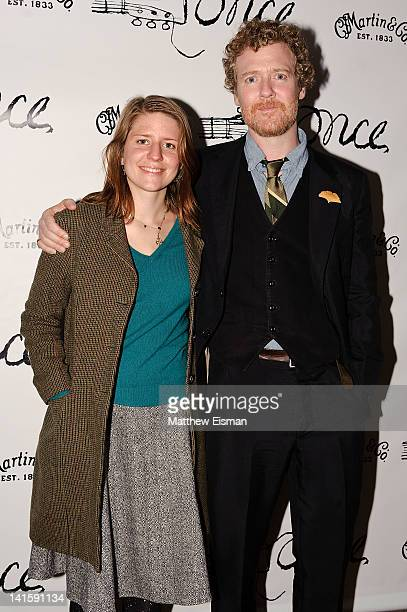 Marketa Irglova and Glen Hansard attend the after party for the Once Broadway opening night at Gotham Hall on March 18 2012 in New York City