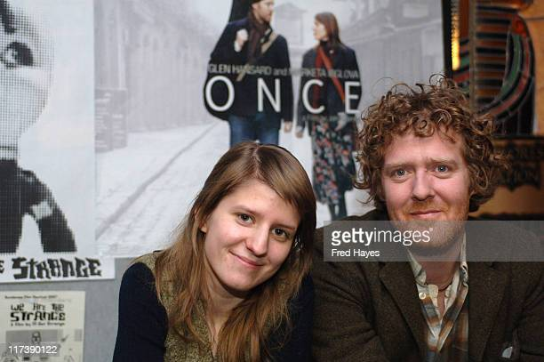 Marketa Irglova and Glen Hansard during 2007 Sundance Film Festival Once Premiere at Egyptian Theatre in Park City Utah United States