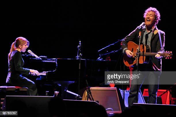 Marketa Irglova and Glen Hansard of The Swell Season perform at Shepherds Bush Empire on January 14 2010 in London England
