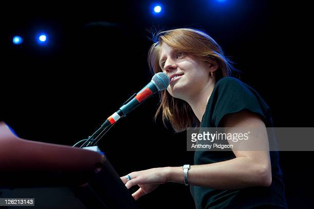 Marketa Irglova of Marketa Irglova performs on stage at Pioneer Square during Musicfest NW on September 9 2011 in Portland United States