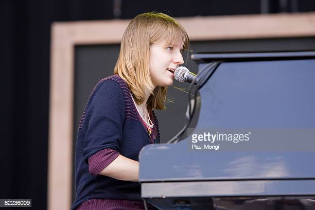 Marketa Irglova of The Swell Season performs during the 2008 Virgin Mobile festival at the Pimlico Race Course on August 9 2008 in Baltimore Maryland
