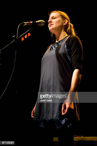 Marketa Irglova of The Swell Season performs on stage at Sala Apolo on February 27 2010 in Barcelona Spain