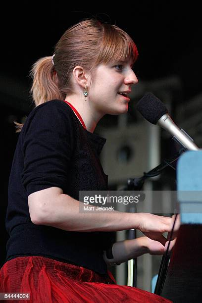 Marketa Irglova performs on stage at the Fremantle Arts Centre on January 25 2009 in Perth Australia