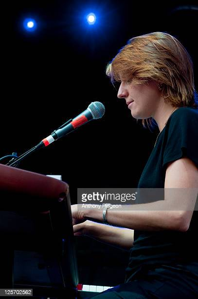 Marketa Irglova performs onstage at Pioneer Square during the MusicFest NW festival in Portland Oregon USA on 9th September 2011