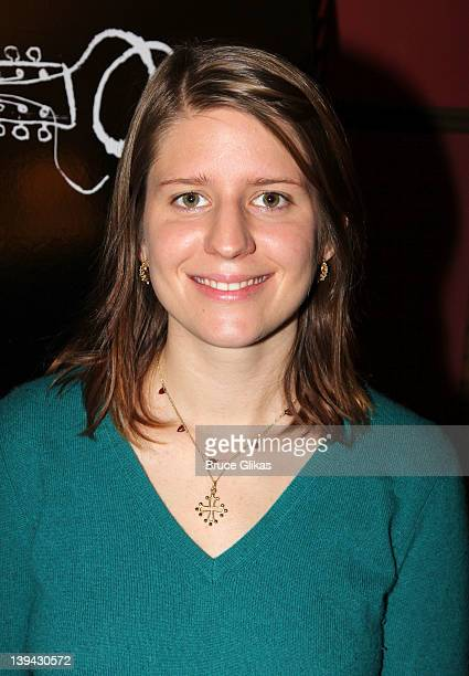 Marketa Irglova poses at the Once Broadway cast photocall at Sardi's on February 20 2012 in New York City