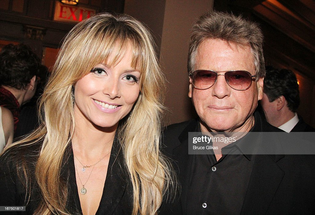 Marketa Janska and Ryan O'Neal attend the 'I'll Eat You Last: A Chat With Sue Mengers' Broadway opening night at The Booth Theater on April 24, 2013 in New York City.
