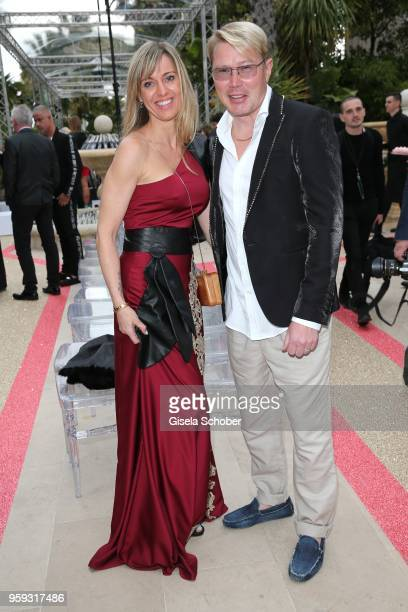 Marketa Remesovan Mika Hakkinen during Philipp Plein Dynasty Women's Men's Resort 2019 Fashion Show during the 71st annual Cannes Film Festival at on...