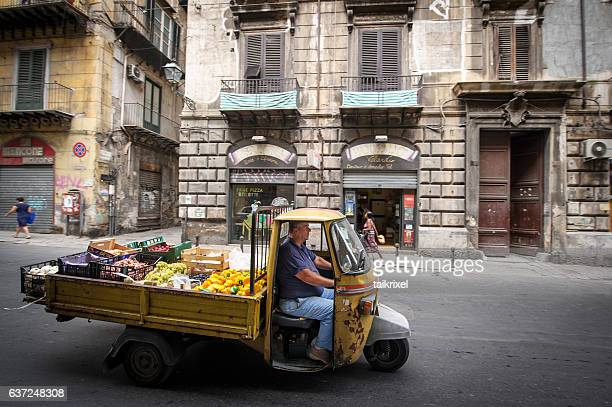 Marketer on apecar in Palermo