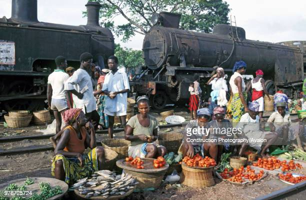 Marketers having taken possession of little used railway track in Accra the Ghanaian capital The post independence decline of the railway system...