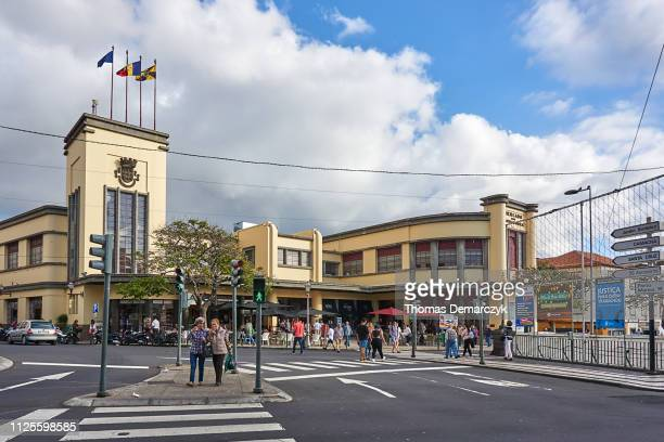 markethall - funchal stock pictures, royalty-free photos & images